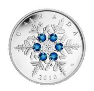 2010 - $20 - Fine Silver Coin - Blue Crystal Snowflake - TAX Exempt