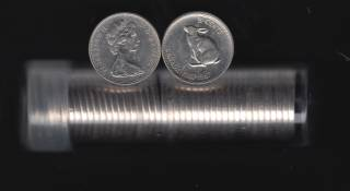 1967 Canada 5 Cents - 40 Coins Circulated in Plastic Tube