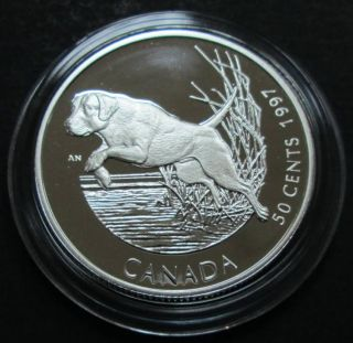 1997 Canada 50 Cents Sterling Silver - Labrador Retriever Dog
