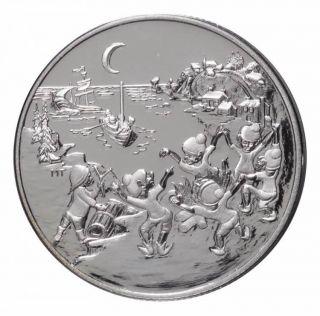 2001 Canada 50 Cents Sterling Silver - Les Petits Sauteux - Legends & Folklore