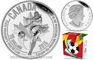 2015 - $10 - 1/2 oz. Fine Silver Coin - FIFA Women's World CupTM/MC : The Kicker