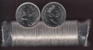 1991 Canada Rouleau 25 Cents Caribou - 40 Pieces - Brilliant Incirculées - RARE