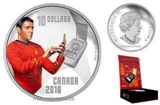 2016 - $10 - 1/2 oz. Pure Silver - Star TrekTM Crew - Scotty