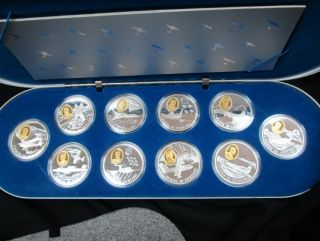 1995-1999 - $20 - Silver - Powered Flight in Canada Aviation Series #2 - 10 Coin Set