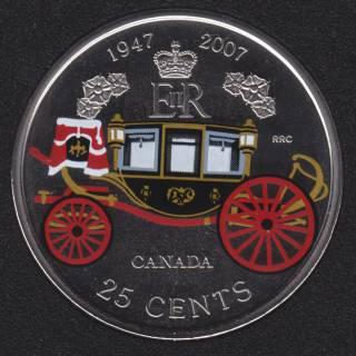 2007 - Specimen - 60e Anniversaire de Mariage de la Reine - Canada 25 Cents