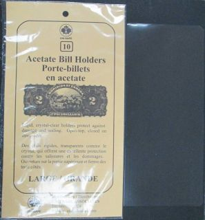 Acetate Bill Holders Large - PACKAGE OF 10