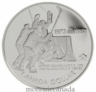 1997 Canada / U.S.S.R. Hockey Series - Sterling Silver $1 Dollar Proof