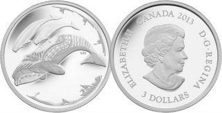 2013 - $3 - 1/4 oz. Fine Silver Coin - Life in the North