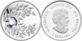 2012 - $3 - April Birthstone (Diamond) - Fine Silver Coin