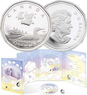 2006 $1 Sterling Silver Coin - Baby Lullabies CD