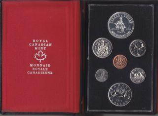 1975 - Double Dollar Proof Set - Calgary Centennial Silver Dollar