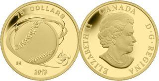2013 - $75 - 1/4 oz Fine Gold Coin - Hardball