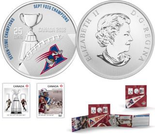 2012 - The Montréal Alouettes - 25-Cent Coloured Coin and Stamp Set