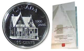2000 10 - Cents - Desjardins in Sterling Silver Coin - 100Th Ann.