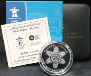 2010 Limited Edition Proof Silver Dollar - The Sun
