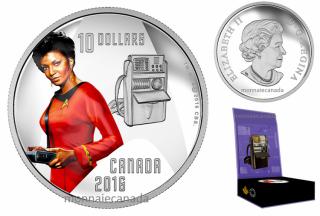 2016 - $10 - 1/2 oz. Pure Silver - Star TrekTM Crew - Uhura