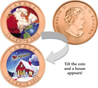 2011 - 50 Cent - Holiday Coin - Gifts from Santa