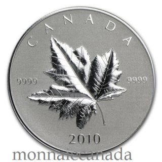 2010 - $5 -  Maple Leaf Fine Silver Coin - Piedfort - TAX Exempt