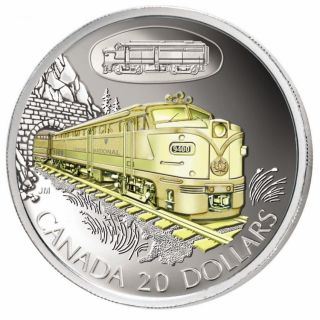 2003 $20 Sterling Silver Gold Plated - FA-1 Diesel-Electric Locomotive #9400 Transportation Series