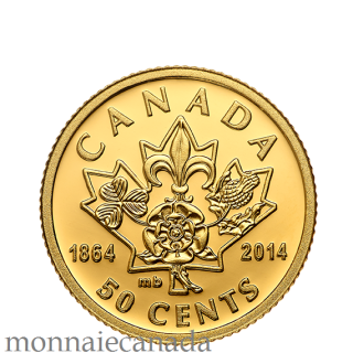 2014 - 50¢ - 1/25 oz. Pure Gold Coin - 150th Anniversary of Québec and Charlottetown