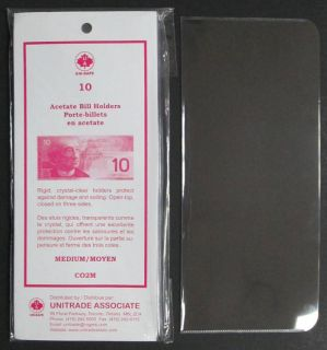 Acetate Bill Holders Medium - PACKAGE OF 10