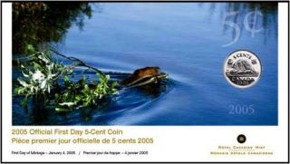 2005 - 5 Cents - First Day