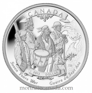 2013 - Proof Silver Dollar - 250th Anniversary of the End of the Seven Years War