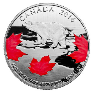 2016 - $25 for $25  - Fine Silver Coin – True North
