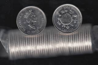2000 Canada Roll 25 Cents - #12 Community - B.Unc