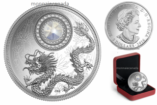 2016 - $5 - Pure Silver Coin made with Swarovski® crystal – Birthstones: June