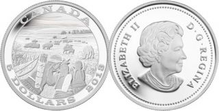 2013 - $5 - Fine Silver Coin - Tradition of Hunting: Bison