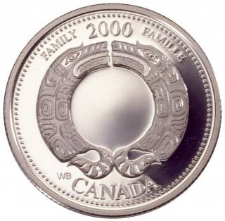 2000 Canada 25 Cents Sterling Silver Proof - Family