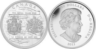 2013 - $250 - Fine Silver One Kilo Coin - 250th Anniversary of the End of the Seven Years War