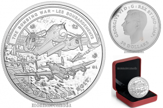 2017 - $20 - 1 oz. Pure Silver Coin - Battlefront Series - Second World War : The Bombing War