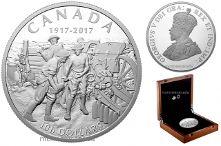 2017 - $100 - 10 oz. Pure Silver Coin - Vimy Ridge