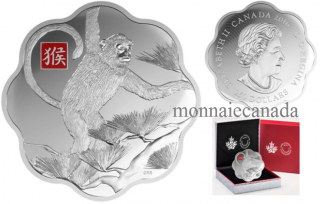2016 - $250 - Fine Silver One Kilogram Coloured Coin - Year of the Monkey