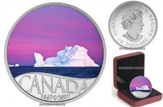 2017 - $10 - Canada's 150th Coin Series - Iceberg at Dawn - 1/2 oz. Pure Silver
