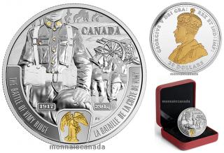 2017 - $20 - 1 oz Pure Silver - Battlefront Series  - First World War - Vimy Ridge