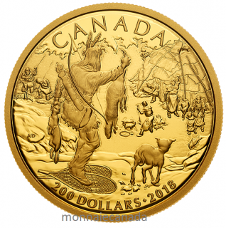 2018 - $200 - Pure Gold Coin - Early Canadian History: First Nations