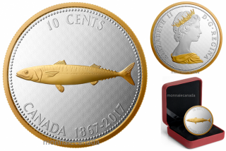 2017 - 10 Cents - 5 oz. Pure Silver Coin – Big Coin Series: Alex Colville Designs: 10 Cents