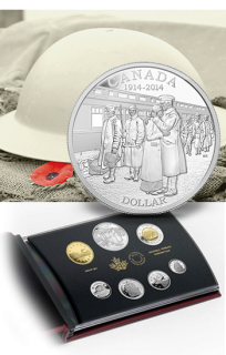2014 - Silver Dollar Proof Set - 100th Anniversary of the Declaration of the First World War