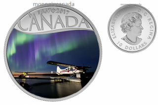2017 - $10 - Canada's 150th Coin Series - Float Planes on the Mackenzie River - 1/2 oz. Pure Silver