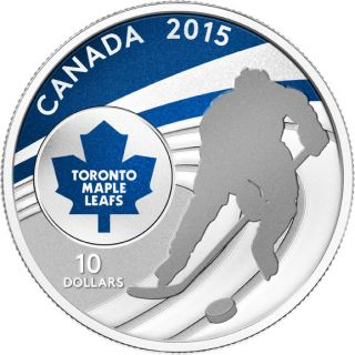 2015 - $10 - 1/2 oz. Fine Silver Coin - Toronto Maple Leafs®