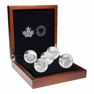 2014 - $25 - 1 oz. Fine Silver Coins - O Canada 5-Coin