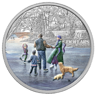 2015 - $20 - 1 oz. Fine Silver Coin - Ice Dancer