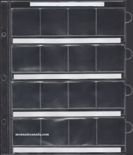 1 Sheet for Uni-Safe Binder 16-Pocket blank page to hold 50¢ to $1