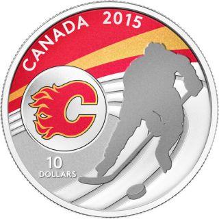 2015 - $10 - 1/2 oz. Fine Silver Coin - Calgary Flames®