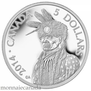 2014 - $5 - Pure Platinum Coin - Portrait of Nanaboozhoo
