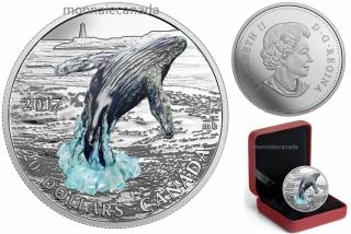 2017 - $20 - 1 oz. Pure Silver Coin – Three-Dimensional Breaching Whale