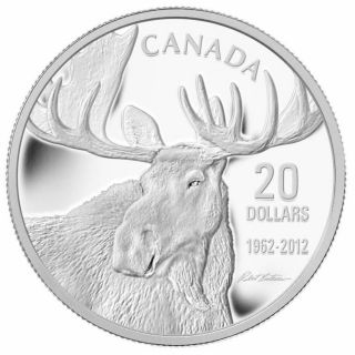 2012 - $20 - Canada Dollars Fine Silver - Robert Bateman Bull Moose - NO TAX